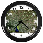 bird_15 Wall Clock (Black)