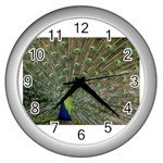 bird_15 Wall Clock (Silver)