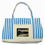 Croc Striped Blue Tote Bag