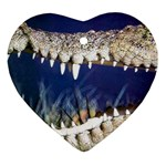 Croc Heart Ornament (Two Sides)