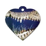 Croc Dog Tag Heart (Two Sides)