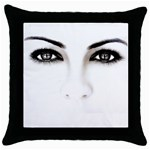 Eyes2 Throw Pillow Case (Black)