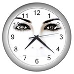 Eyes2 Wall Clock (Silver)
