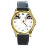 Eyes2 Round Gold Metal Watch