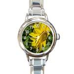 flowers_30 Round Italian Charm Watch