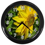 flowers_30 Wall Clock (Black)