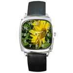 flowers_30 Square Metal Watch