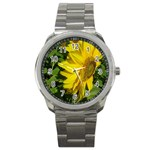 flowers_30 Sport Metal Watch