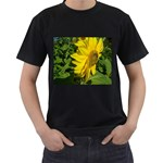 flowers_30 Black T-Shirt