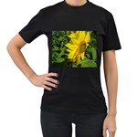 flowers_30 Women s Black T-Shirt