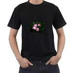 landat_02 Black T-Shirt (Two Sides)