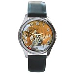 tiger_4 Round Metal Watch