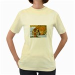 tiger_4 Women s Yellow T-Shirt