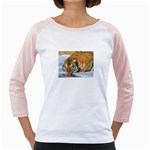 tiger_4 Girly Raglan