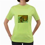 tiger_4 Women s Green T-Shirt