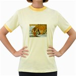 tiger_4 Women s Fitted Ringer T-Shirt