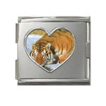 tiger_4 Mega Link Heart Italian Charm (18mm)