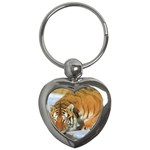 tiger_4 Key Chain (Heart)