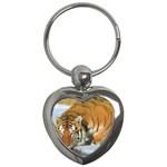 tiger_4 Key Chain (Heart)