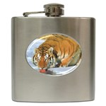 tiger_4 Hip Flask (6 oz)