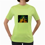 wallpaper_8438 Women s Green T-Shirt