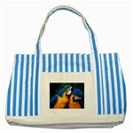 wallpaper_8438 Striped Blue Tote Bag