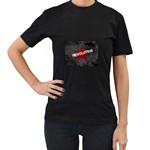 wallpaper_11805 Women s Black T-Shirt