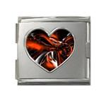 wallpaper_12280 Mega Link Heart Italian Charm (18mm)
