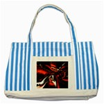 wallpaper_12280 Striped Blue Tote Bag