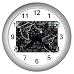 wallpaper_12647 Wall Clock (Silver)