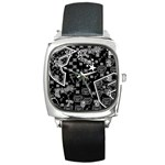 wallpaper_12647 Square Metal Watch