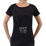 wallpaper_12647 Maternity Black T-Shirt