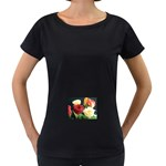 wallpaper_12974 Maternity Black T-Shirt