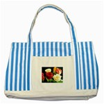 wallpaper_12974 Striped Blue Tote Bag