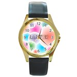 wallpaper_13078 Round Gold Metal Watch
