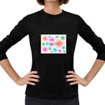 wallpaper_13078 Women s Long Sleeve Dark T-Shirt