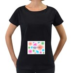 wallpaper_13078 Maternity Black T-Shirt