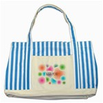 wallpaper_13078 Striped Blue Tote Bag