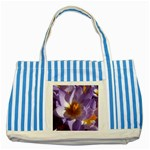 wallpaper_13855 Striped Blue Tote Bag
