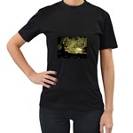 wallpaper_15601 Women s Black T-Shirt (Two Sides)