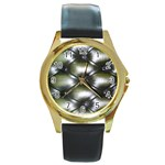 wallpaper_15632 Round Gold Metal Watch