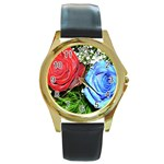 wallpaper_16293 Round Gold Metal Watch
