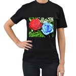 wallpaper_16293 Women s Black T-Shirt (Two Sides)