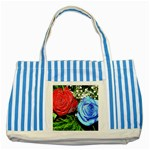 wallpaper_16293 Striped Blue Tote Bag