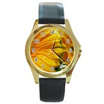 wallpaper_18294 Round Gold Metal Watch