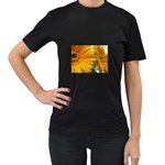 wallpaper_18294 Women s Black T-Shirt (Two Sides)