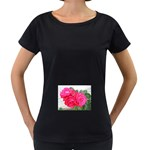wallpaper_17044 Maternity Black T-Shirt