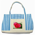 wallpaper_17044 Striped Blue Tote Bag