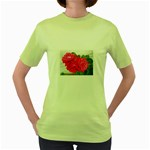 wallpaper_17044 Women s Green T-Shirt