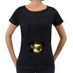 wallpaper_21592 Maternity Black T-Shirt